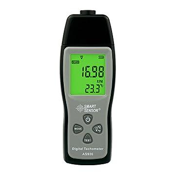 Junjiagao Instrumentos de medición de Velocidad Foto Digital Tacómetro Láser Rango Tach 30000 RPM Pantalla LCD Motor Medidor de Velocidad AS926: Amazon.es: ...