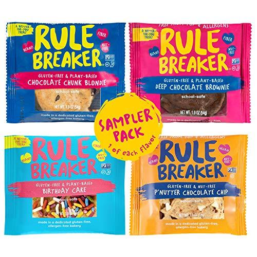Rule Breaker Flavor Combos, Brownie, Blondie, Birthday Cake, P'Nutter, Healthy and Unbelievably Delicious, Vegan, Gluten Free, Nut Free, Allergen Friendly, Kosher (1/4ct pack)