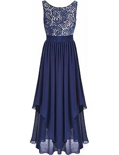 efb84cfcb2e iiniim Summer Boho Women Long Maxi Evening Party Skirt Beach Sundress  Chiffon Lace Dresses