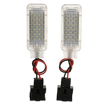 Gazechimp 2x LED Luz Cortesía Bienvenido de Coche Bombilla de Puerta Piezas para Audi A3 A4: Amazon.es: Coche y moto
