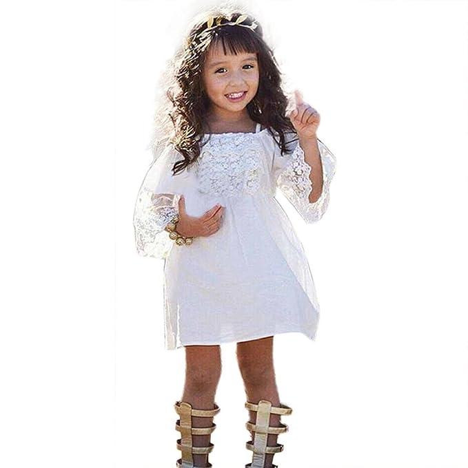 feiXIANG Blume Röcke Mädchen Rock Prinzessin Kleid Kinder Beach ...
