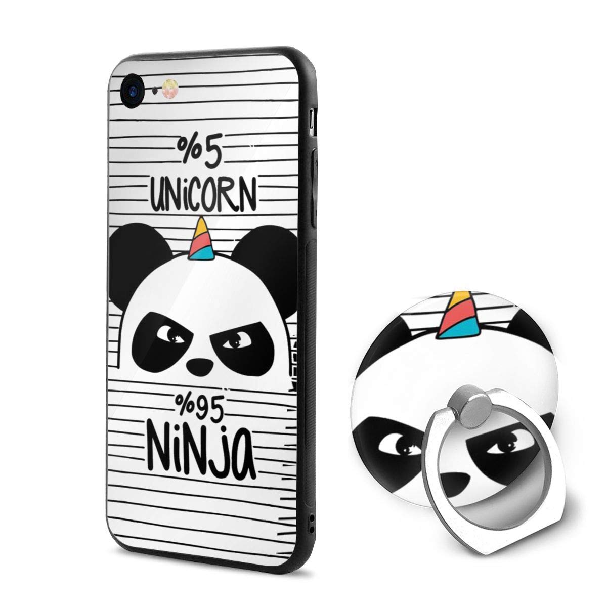 Amazon.com: Unicorn Ninja Panda Creative iPhone 6/6s Clear ...
