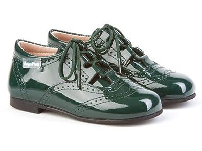 ANGELITOS Inglesitos de Charol Para Niña y Niño (Unisex) EN Color Verde. Marca Modelo 1505. Calzado infantil Hecho EN España. Número 24: Amazon.es: Zapatos ...