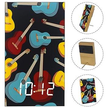 Amazon.com: Guitars Pattern Alarm Clock with USB Line Power ...