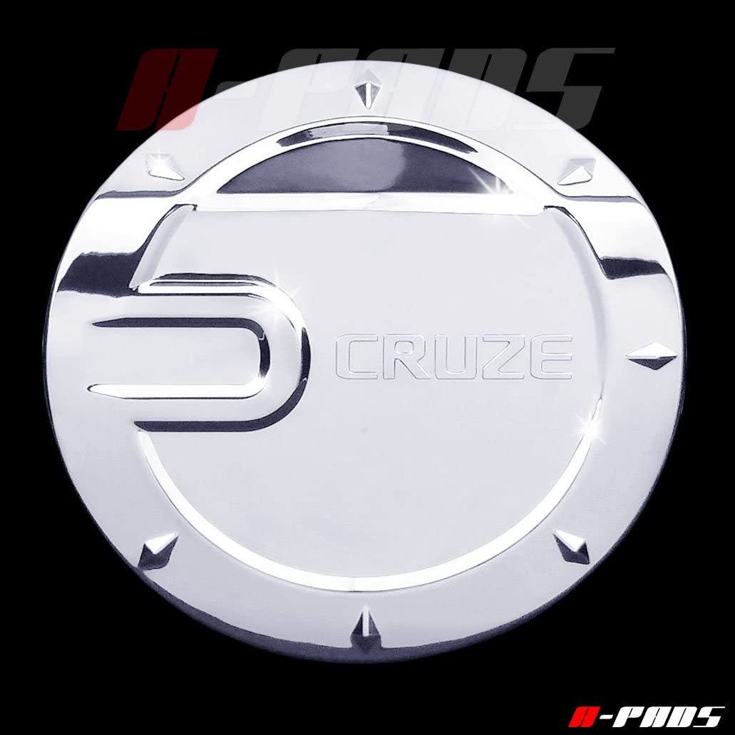 WITHCRUZE Text A-PADS Chrome Gas Door Cover for Chevy CRUZE 2008-2013