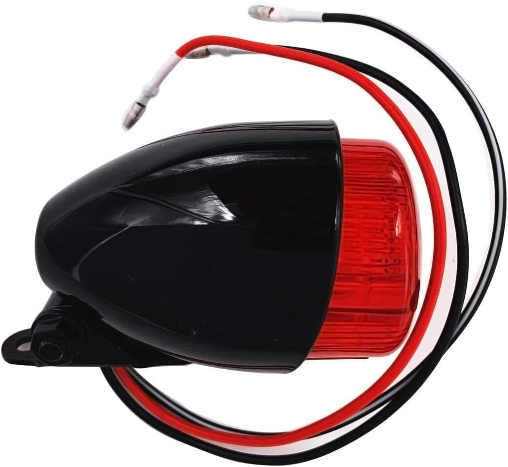 Positionslicht und Kennzeichenlicht Schwarzes HAWK ECO Motorrad-R/ücklicht mit Bremslicht E-MARK-Zulassung IGUANA CUSTOM