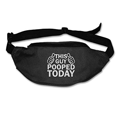 Yahui This Guy Pooped Today Waist Bag Fanny Pack / Hip Pack Bum Bag For Man Women Sports Travel Running Hiking / Money IPhone 6 / 7 6S / 7S Plus Samsung S5/S6