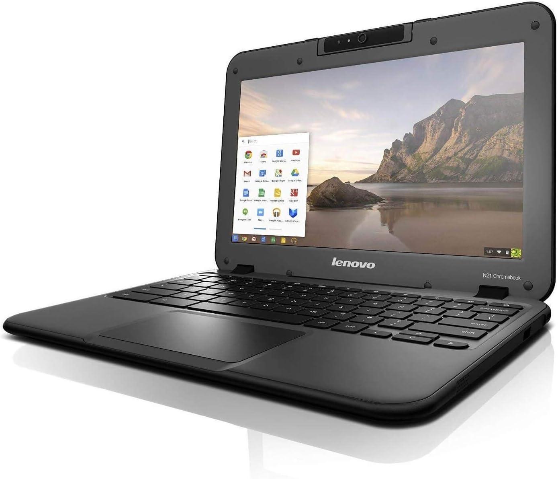 "Lenovo Chromebook N21 Intel Celeron N2840 X2 2.16GHz 4GB 16GB SSD 11.6"",Black Skin (Refurbished)"