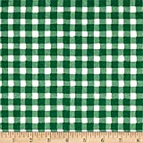 The Hen House Gingham Green Fabric By The Yard