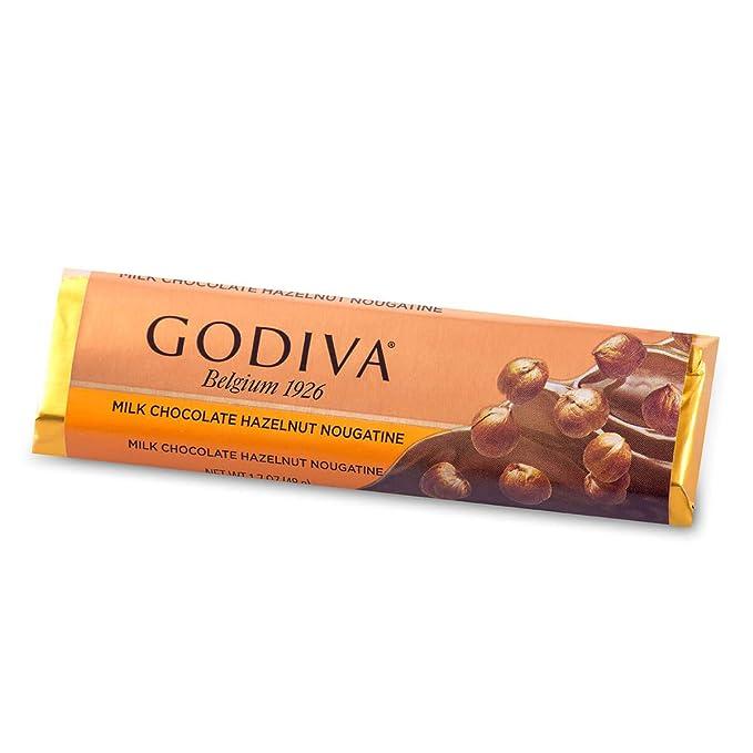 Godiva, Tableta Chocolate con Leche Praline Nougatine, 48g