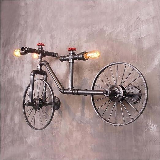 Glight Araña de la Bicicleta de Hierro Forjado Estilo Industrial ...