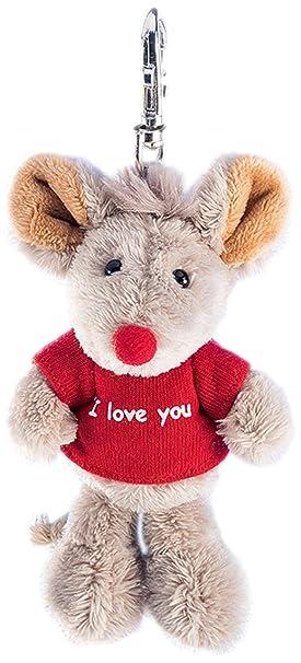 Schaffer 2520 Llavero de Peluche ratón I Love You: Amazon.es ...