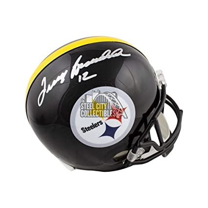 c3634bfcac6 Terry Bradshaw Autographed Signed Pittsburgh Steelers Full -Size Football  Helmet Memorabilia - JSA Authentic