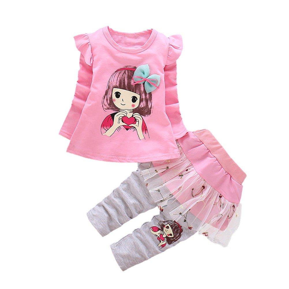 Toddler Kids Long Sleeve Bowknot T-Shirt Tops with Tutu Skirt Pants Leggings Trousers Set BOBORA Baby Girl Autumn Clothing Sets