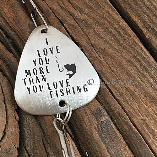I Love You More Than You Love Fishing Fishing Lure- Anniversary Gift For Him Men's Fishing Lure Gift Wedding Gift Idea I Love You Lure