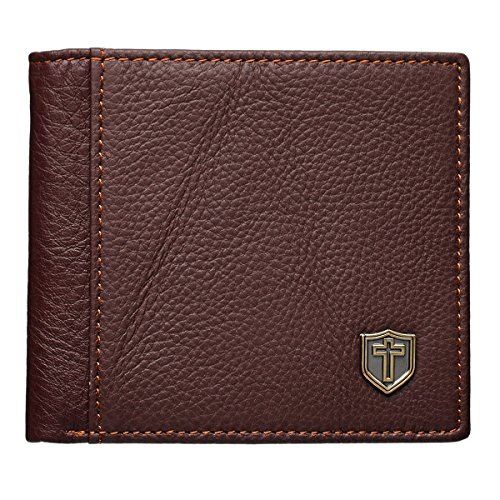 Burgundy Genuine Leather Wallet Shield product image