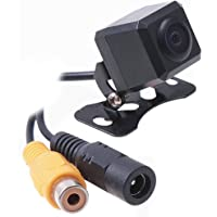 Car Auto Rear View Camera Backup Cam Bumper Screw Mount Universal Fit Mirrored Image w/Grid Lines 12V