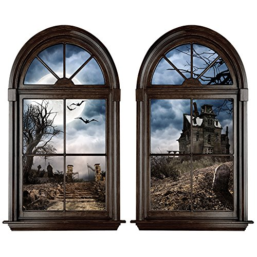Haunted Mansion Large Window Wall Decal Set