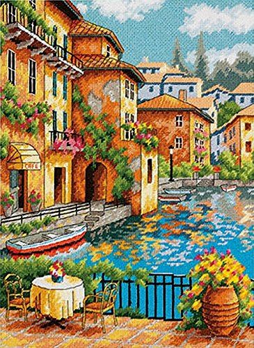 DIMENSIONS Crafts 71-20080 Cafe on The Canal Needlepoint
