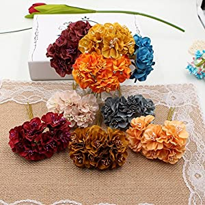FLOWER 30pcs/lot Silk Stamen Daisy Artificial Bouquet For Wedding Decoration DIY Scrapbooking Decorative Wreath Fake 11