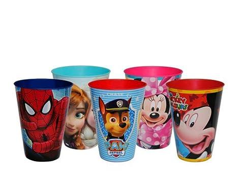"""Lote de 25 Vasos de Pasta Infantiles """"Disney"""" Modelo a Elegir. Vajillas"""