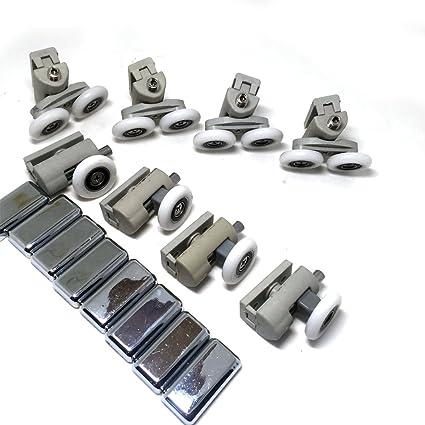 8 x para mampara de ducha de repuesto rueda de rodillo Runner diámetro 25 mm