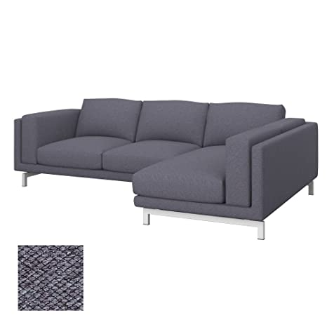 Soferia - Ikea NOCKEBY Fodera Divano 2 posti con Chaise-Longue ...