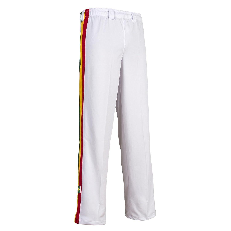 Blanc avec Rayures Neuf Authentique Br/ésilien Capoeira Arts Martiaux Pantalon Unisexe