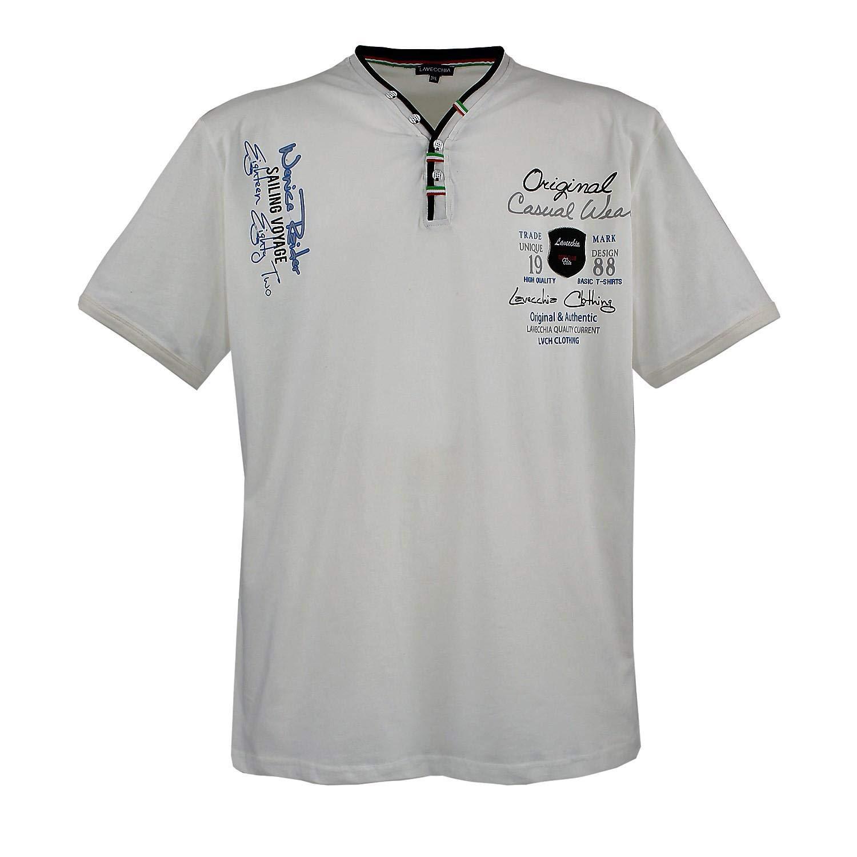 Lavecchia Mens T-Shirt Cream White Big Sizes