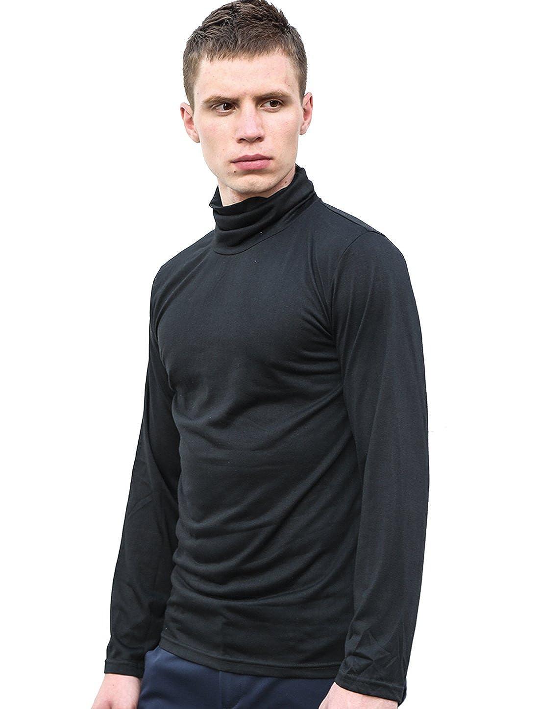 Uxcell Men Slim Fit Lightweight Long Sleeve Pullover Top Turtleneck Acrylick Online Men39s Short Circuit Tshirt T Shirt