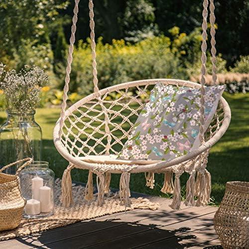 43 x 43 cm Celina Digby/® Coussin de jardin imperm/éable en fibre creuse Carr/é Dimensions fleur de cerisier gris