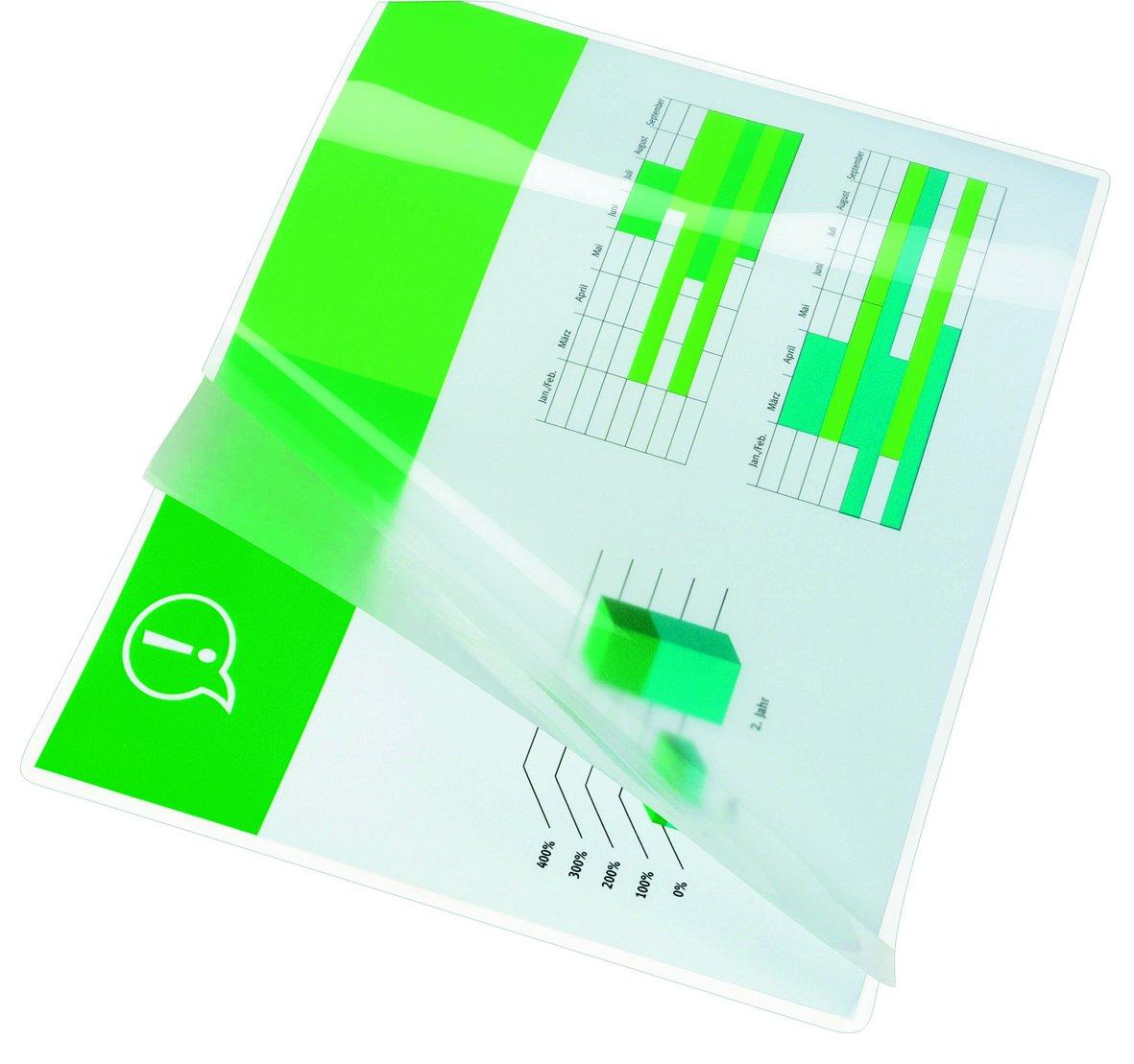 3200746 Confezione da 100 GBC Buste Pouch Lucide per Plastificazione A3 2 x 175 Micron