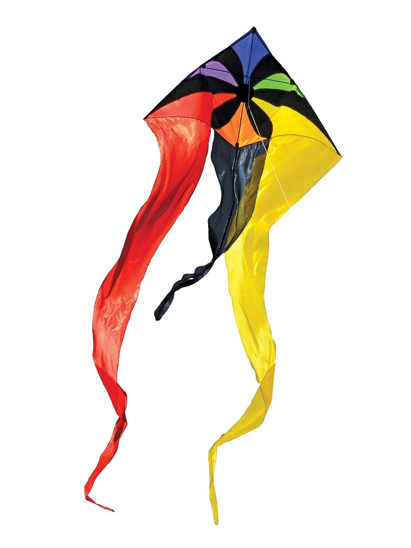 In the Breeze Rainbow Flux Wave Delta Kite, 130cm B00PXFC1H2 Rainbow Flux