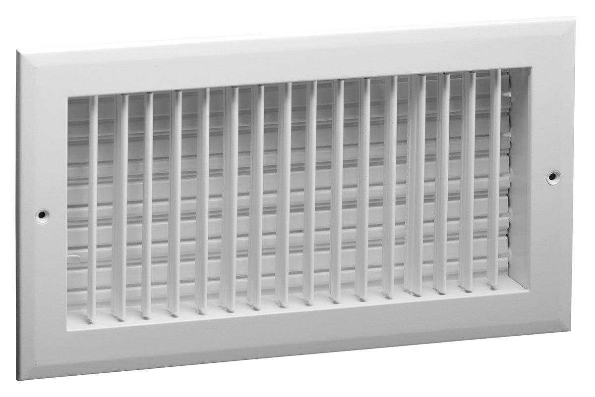 14'' x 6'' (W x H) Aluminum Sidewall Multi-Shutter Registers Hart & Cooley A618MS 14x6 inch