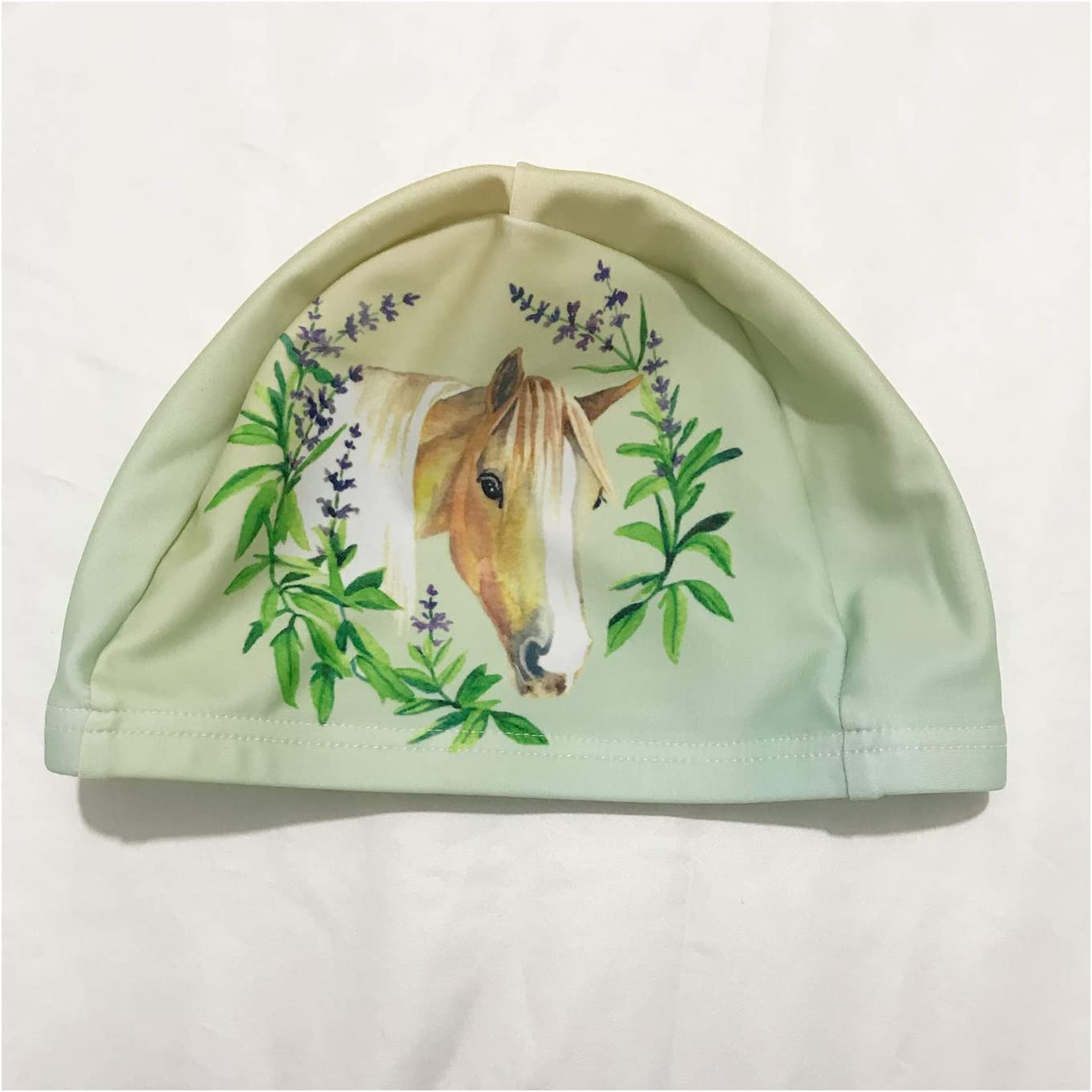 Suitable for Long or Short Hair Flowers and Wild Horses Super Resilient Breathable XREE Adult Sport Swim Cap Swimming Cap