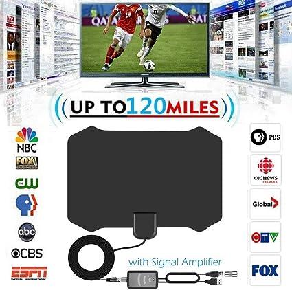 SEXTT Aire Interior de TV, 120 Millas Digital HDTV Antena ...