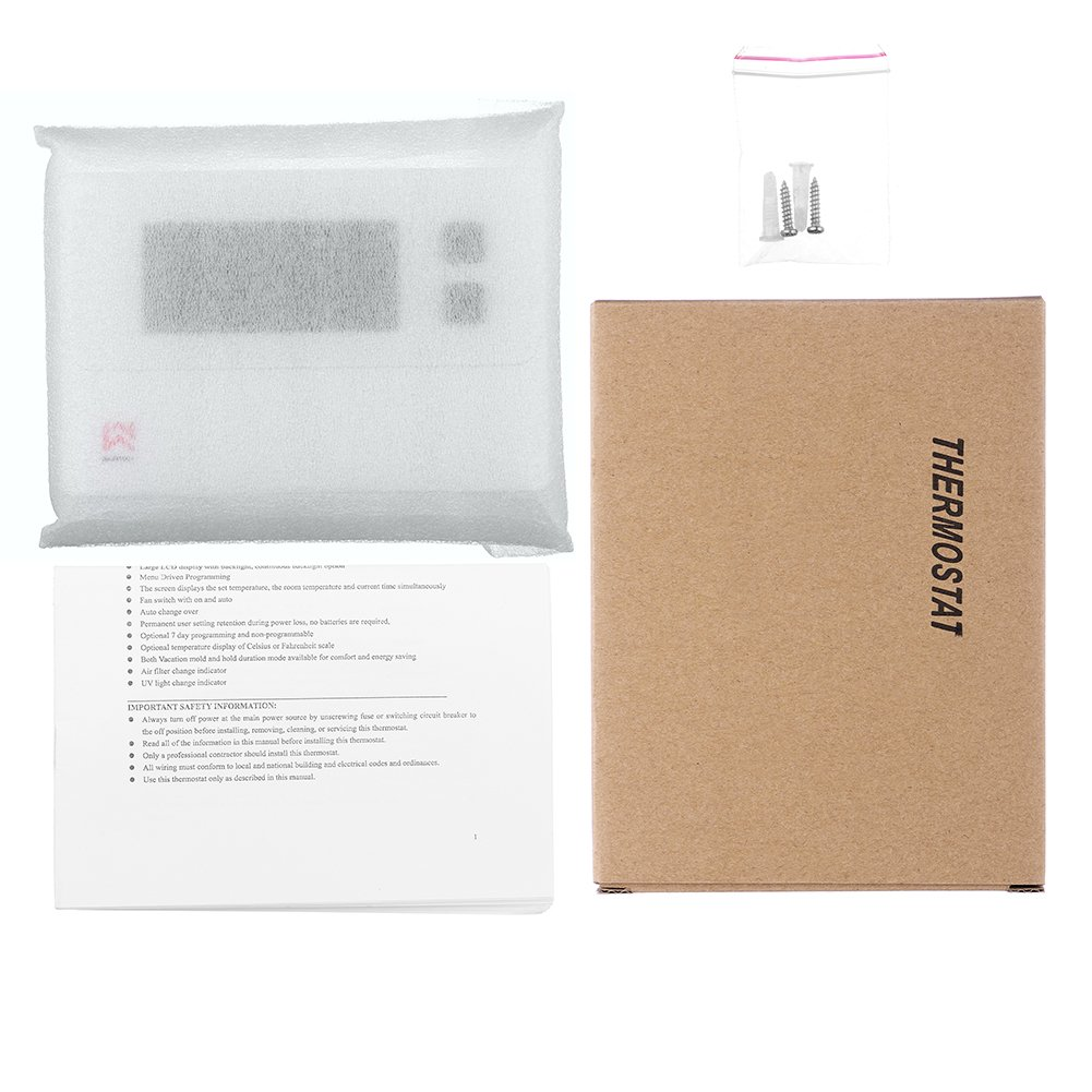 Non-programmable Single Stage Thermostat For Room,24 Volt Or Millivolt System,1H/1C,Heat Pump Thermostat,Saswell T21STK-0 by Saswell (Image #7)