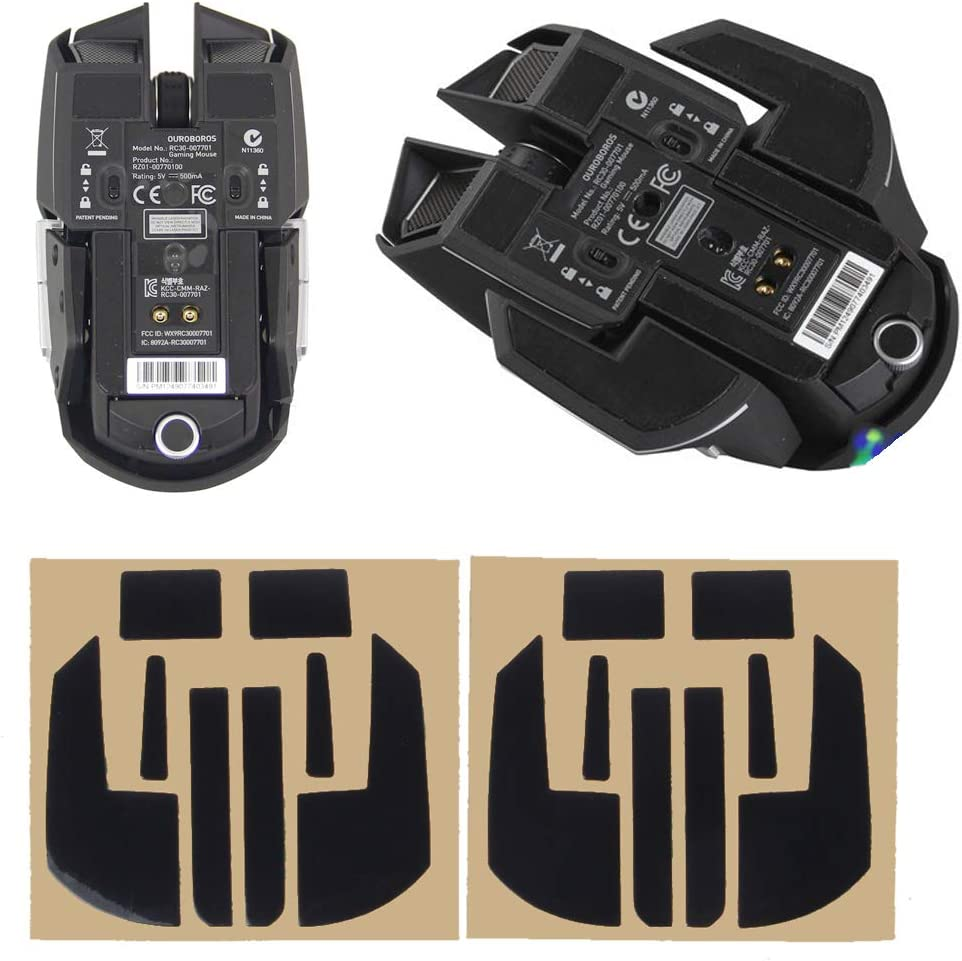 YUEYU 2 Sets//Pack Original Hotline Games Competition Level Mouse Feet Mouse Skates Gildes for Razer Ouroboros Mouse 0.6mm Thickness Teflon
