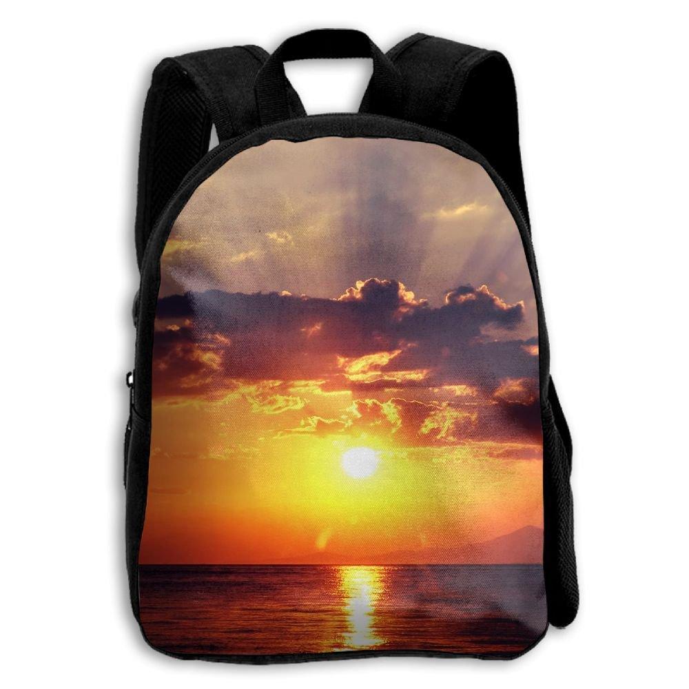 Kids School Bag Double Shoulder Print Backpacks Gorgeous Sunset Travel Gear Daypack Gift