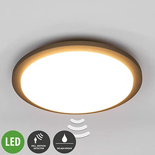 Benton exterior - Lámpara de techo LED con detector de ...
