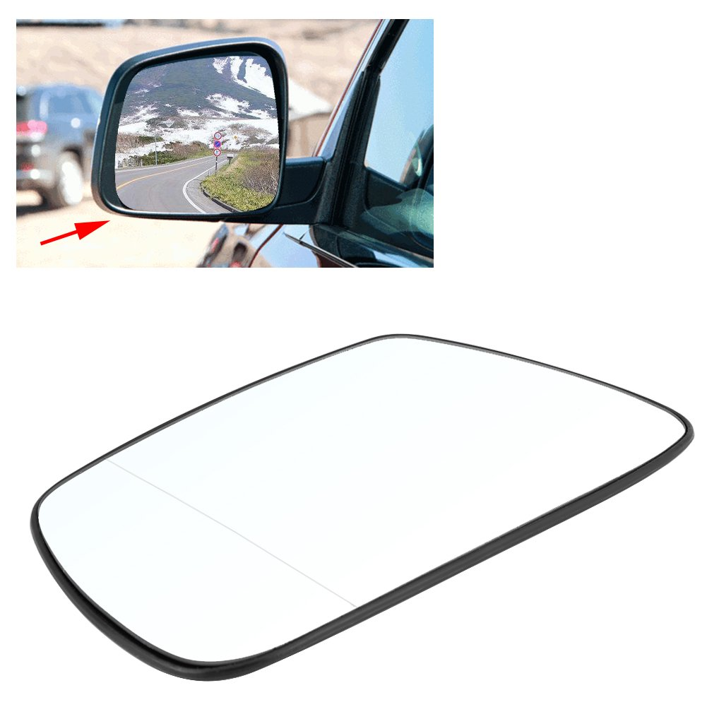 Heated Car Door Wing Mirror Glass Left Door Side Mirror with Backing Plate