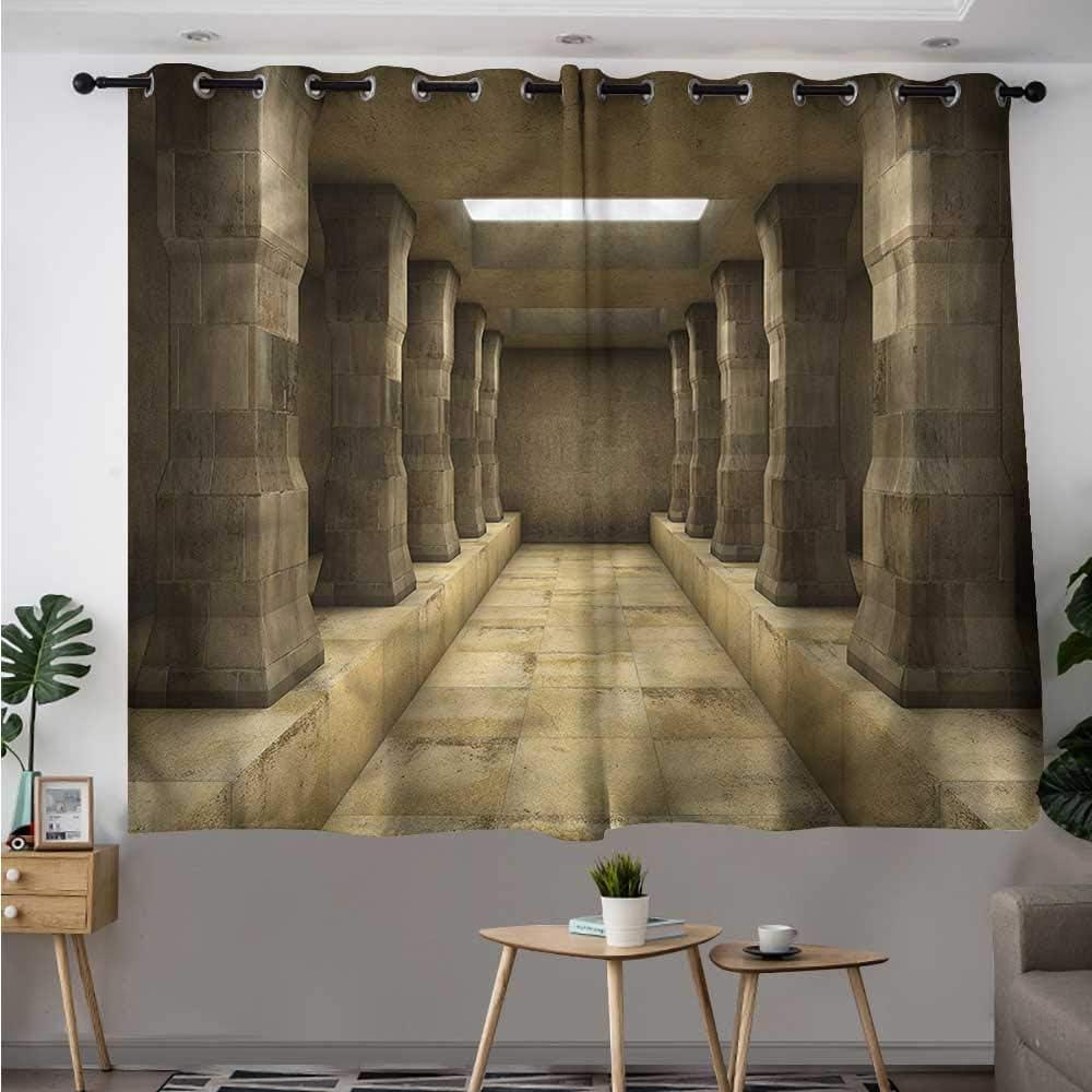 Fbdace Cortina de Puerta corredera Antigua con diseño de Flores de Cerezo con Aislamiento Floral y Ojales para Dormitorio: Amazon.es: Hogar