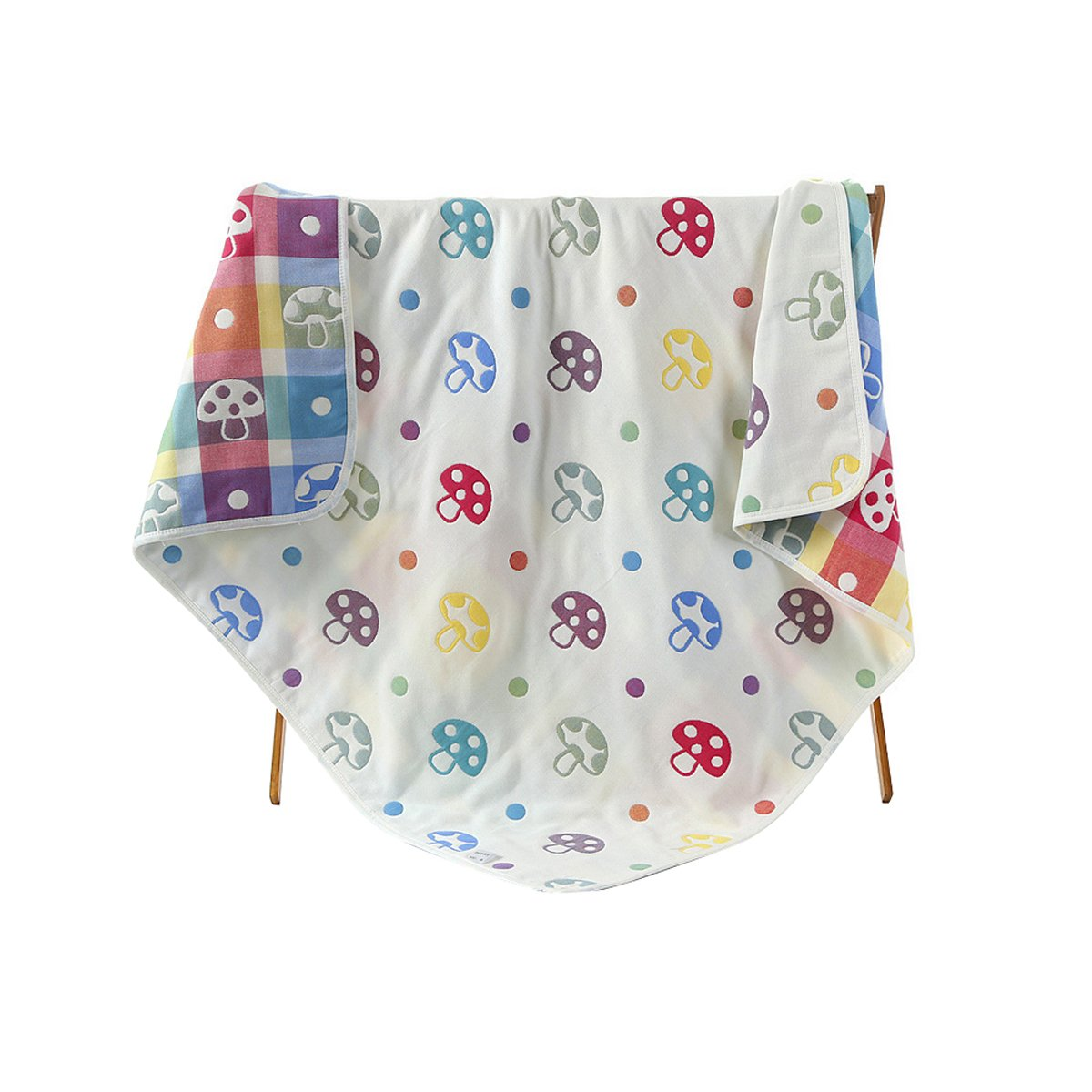 TOLLION 100% Organic Cotton Swaddle Blankets Baby Receiving Blankets- 42-by-42-Inch (Mushroom)