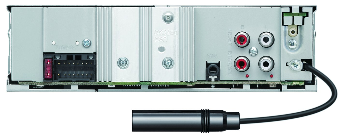 Negro, 1 DIN, 50 W, MOSFET, AAC,MP3,WAV,WMA, LCD Kenwood Electronics KMM-BT504DAB Bluetooth Negro receptor multimedia para coche Radio para coche