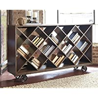 Ashley Furniture Signature Design - Starmore Shelf & Console Table - Rustic Contemporary Bookshelf - Brown