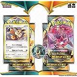 Blister Quádruplo Pokémon Eevee Espada e Escudo 3 Escuridão Incandescente