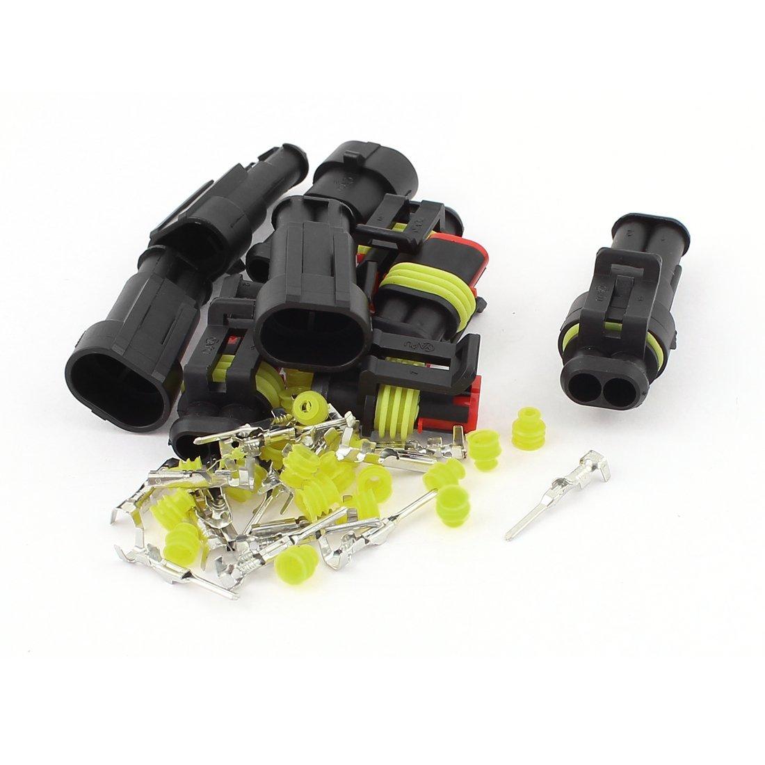 Amazon.com: HID 2P Sealed Adaptador de conector Waterproof 5 Set: Car Electronics