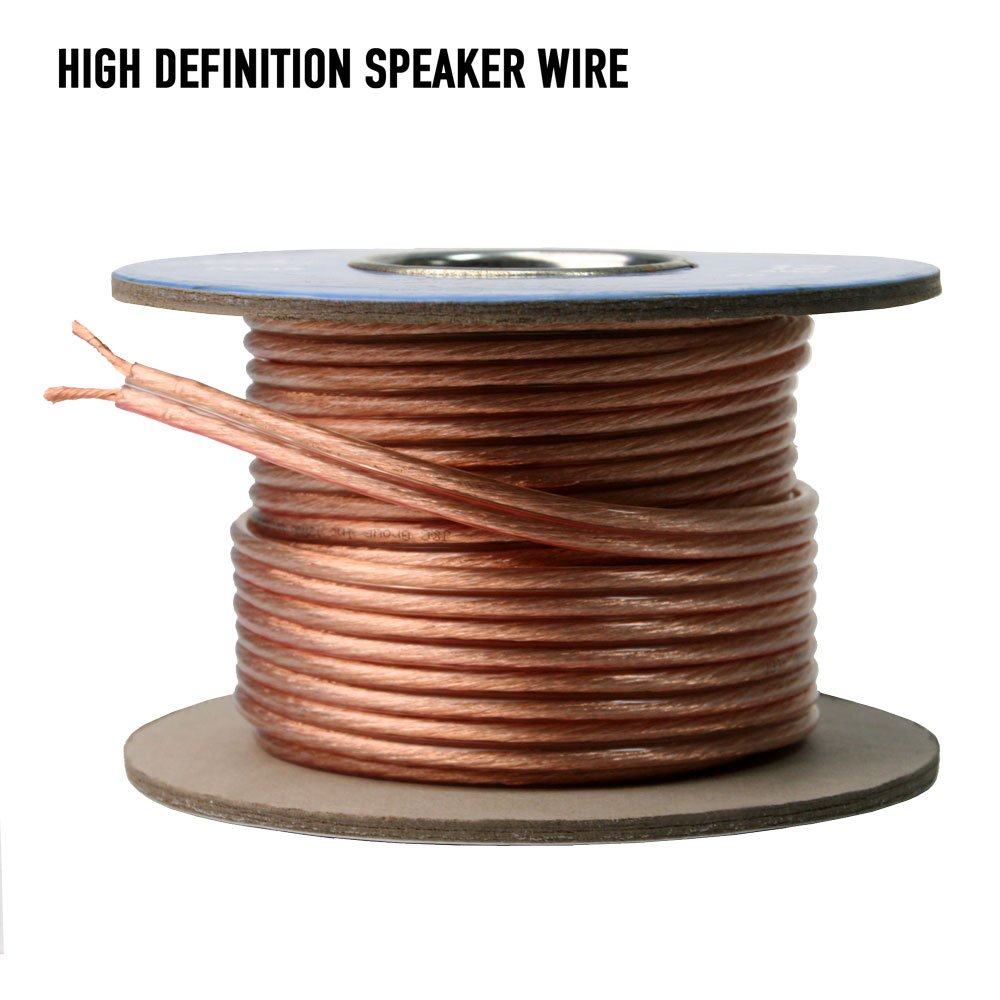 AVX Audio - 16 Gauge Speaker Wire, 99.9% Oxygen Free Copper - 50 Feet - 110-1106