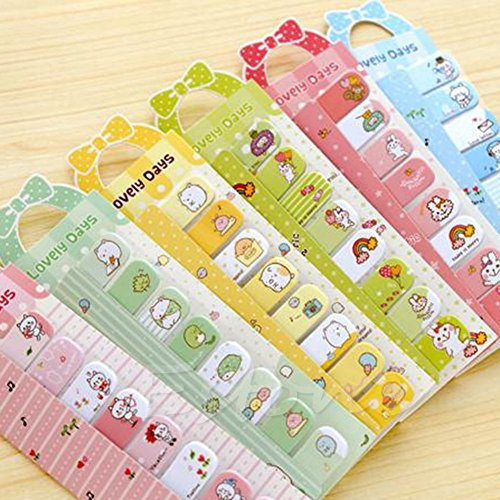 ARCTURUS 6PCS Cute Bowknot Animal Sticker Post It Bookmark Point Marker Memo Flag Sticky - Shopping Dallas Outlet