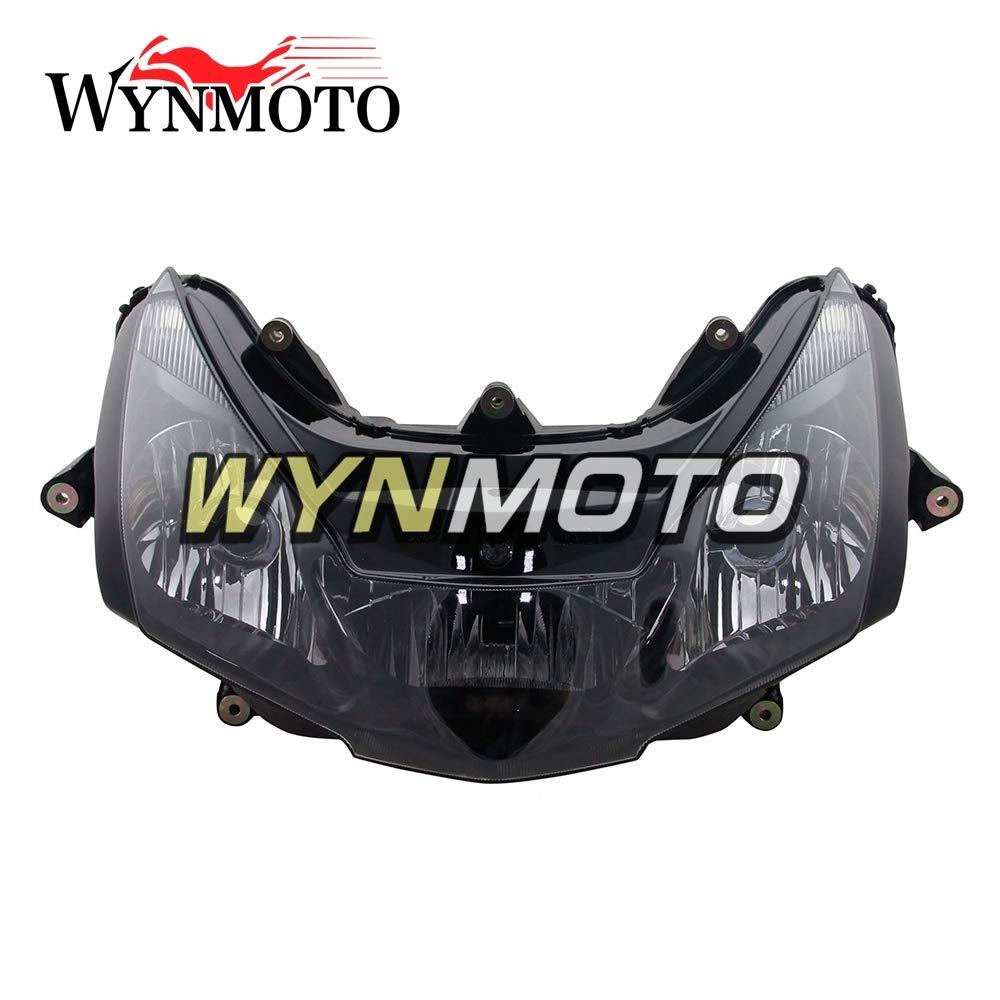 WYNMOTO オートバイヘッドライトヘッドランプフロントヘッドライトハウジング用ホンダ CBR900RR 954 2002 2003 CBR 900 RR cbr 900rr 02 03 バイク交換ヘッドランプアセンブリ照明ランプクリア   B07QM3WQM6